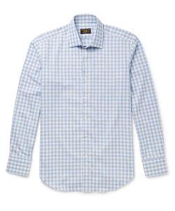 Emma Willis | Slim-Fit Gingham Brushed-Cotton Shirt Blue