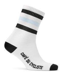 CAFÉ DU CYCLISTE | Stretch-Knit Cycling Socks White