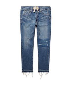 Remi Relief | Slim-Fit Distressed Denim Jeans Blue