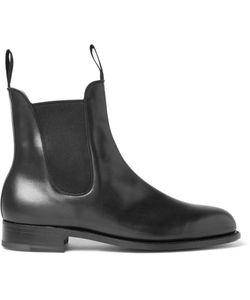 J.M. Weston | Leather Chelsea Boots Black