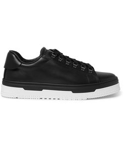 Valentino | Mountain Leather Sneakers Black