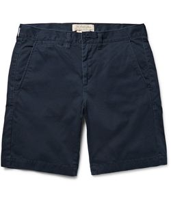 Remi Relief | Washed-Cotton Twill Shorts Blue