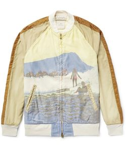 Remi Relief | Printed Cotton Bomber Jacket Brown