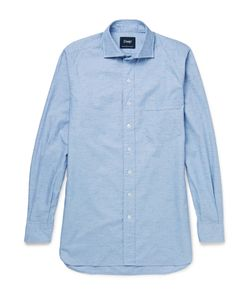 Drake's | Slub Cotton Shirt Blue