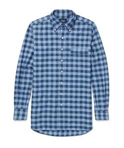 Drake's | Slim-Fit Buffalo-Checked Cotton-Flannel Shirt Blue