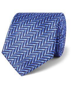 Sulka | Herringbone Silk-Jacquard Tie