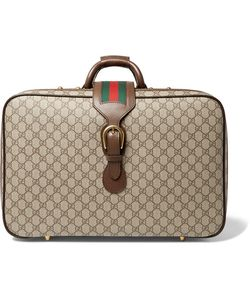 Gucci | Neo Vintage Leather-Trimmed Monogrammed Coated-Canvas Briefcase