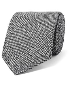 Drake's | 8cm Prince Of Wales Checked Wool And Cashmere-Blend Tie