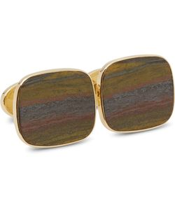 Trianon   18-Karat Gold Tiger Iron Cufflinks