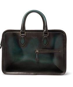 BERLUTI | Un Jour Mini Polished-Leather Briefcase