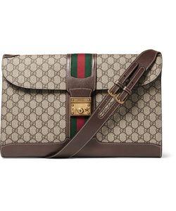 Gucci | Leather-Trimmed Monogrammed Coated-Canvas Messenger Bag