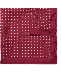 Emma Willis | Polka-Dot Printed Silk Pocket Square