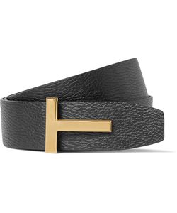 Tom Ford | 4cm Reversible And Brown Grained-Leather Belt