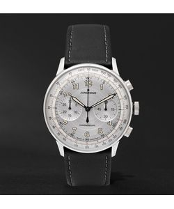 Junghans | Meister Telemeter Chronoscope Stainless Steel And Leather Watch
