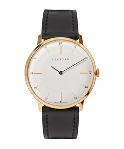 Sekford | Type 1a Gold-Tone And Cordovan Leather Watch
