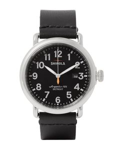 SHINOLA | The Runwell 41mm Stainless Steel And Leather Watch