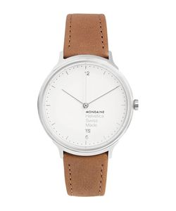 Mondaine | Helvetica No1 Light Stainless Steel And Leather Watch