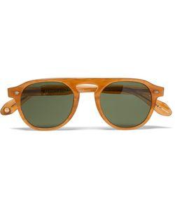 Garrett Leight California Optical | Harding Round-Frame Acetate Sunglasses Light