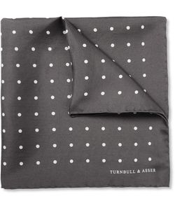 Turnbull & Asser | Polka-Dot Silk Pocket Square