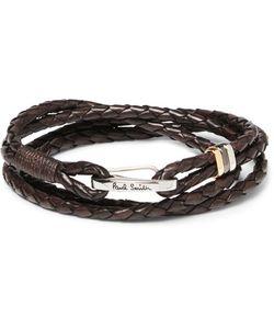 Paul Smith | Woven Leather Wrap Bracelet