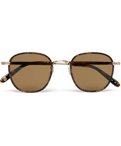 Garrett Leight California Optical | Grant Square-Frame Acetate And Gold-Tone Sunglasses