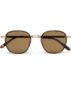 Garrett Leight California Optical | Grant Square-Frame Acetate And Gold-Tone Sunglasses