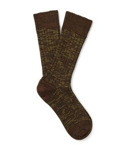 The Workers Club | Marled Merino Wool-Blend Socks