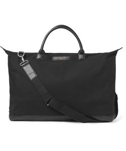 Want Les Essentiels | Hartsfield Leather-Trimmed Organic Cotton-Canvas Holdall