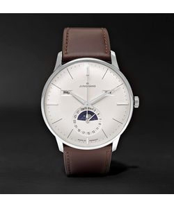 Junghans | Meister Kalender Stainless Steel And Leather Watch