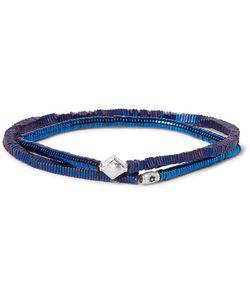 LUIS MORAIS | Hematite Bead And White Gold Wrap Bracelet