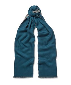 Loro Piana | Cavalry Two-Tone Cashmere And Silk-Blend Scarf