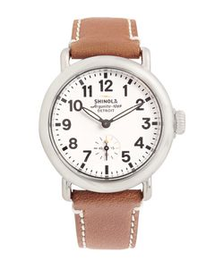 SHINOLA | The Runwell 36mm Stainless Steel And Leather Watch