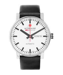 Mondaine | Evo Big Day-Date Stainless Steel And Leather Watch