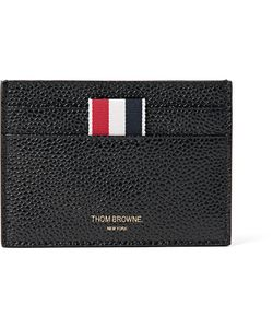 Thom Browne   Pebble-Grain Leather Cardholder