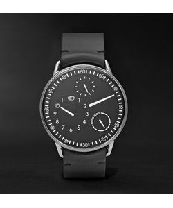 Ressence | Type 1 B Titanium And Leather Watch