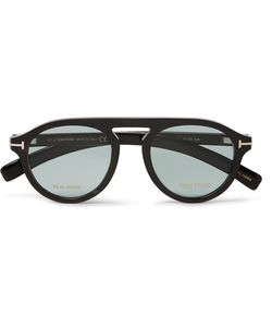 Tom Ford | Private Collection Round-Frame Horn Optical Glasses