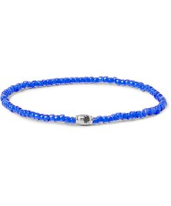 LUIS MORAIS | Glass Bead And White Gold Bracelet