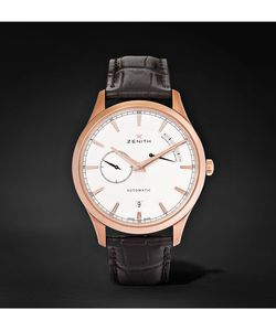 Zenith | Power Reserve 40 Rose Gold-Tone Stainless Steel And Alligator