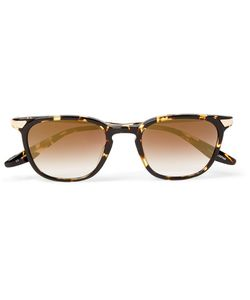 BARTON PERREIRA   Dean Square-Frame Acetate And Gold-Tone Mirrored Sunglasses