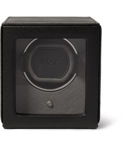 WOLF | Cub Pebble-Grain Faux Leather Watch Winder