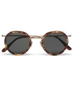Eyevan | 7285 Round-Frame Acetate And Gold-Tone Sunglasses