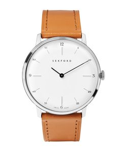 Sekford | Type 1a Stainless Steel And Leather Watch