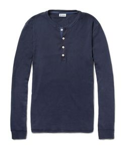 Schiesser | Long-Sleeved Cotton-Jersey Henley T-Shirt
