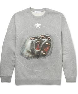 Givenchy | Monkey Brothers Cuban-Fit Printed Fleece-Back Cotton-Jersey Sweatshirt