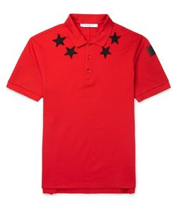 Givenchy | Cuban-Fit Star-Appliquéd Cotton-Pique Polo Shirt