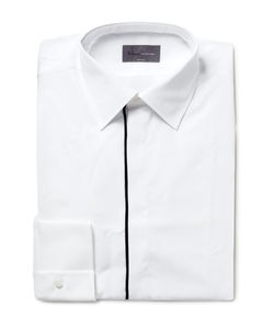 Kilgour | Slim-Fit Contrast-Tipped Cotton Shirt