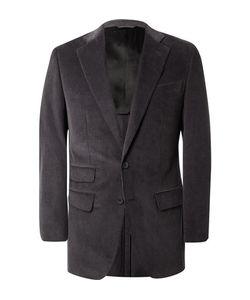 Thom Sweeney   Grey Slim-Fit Cotton-Corduroy Suit Jacket