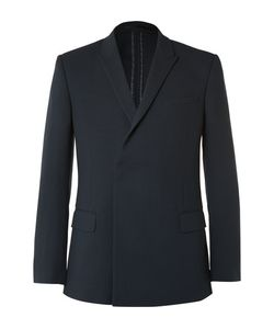 Kilgour | Double-Breasted Wool-Crepe Blazer
