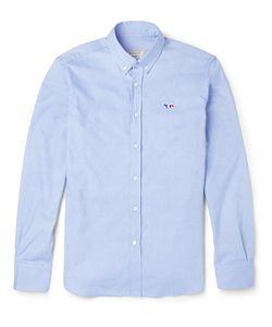 Maison Kitsune | Maison Kitsuné Slim-Fit Button-Down Collar Cotton Oxford Shirt