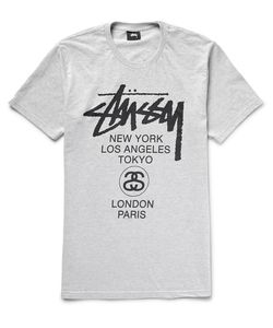 Stüssy | World Tour Printed Cotton-Blend Jersey T-Shirt